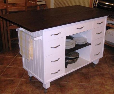 ideas for make rolling kitchen cart cabinets beds