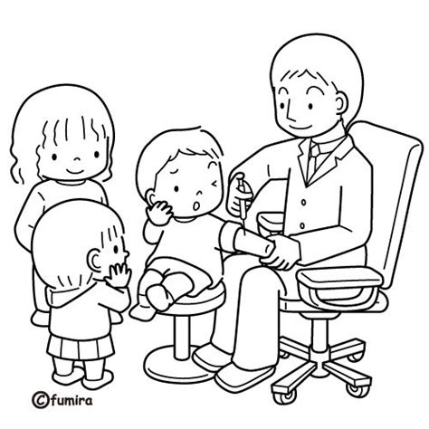 Doctor Coloring Pages Doctor Visit Coloring Pages Kids And The Coloring Page