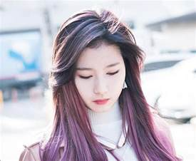 k hair color hair trend alert sana s purple hair kpop