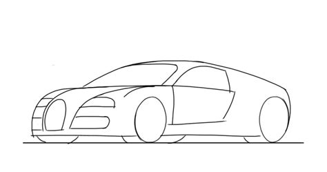 How To Draw Car How To Draw A Sports Car Bugatti Veyron Junior Car Designer