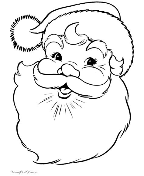 printable santa face christmas santa coloring pages printable