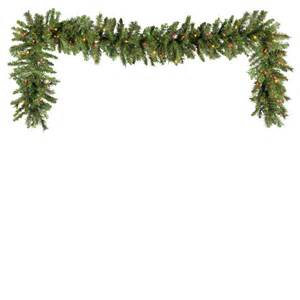 lighted christmas garland brighton fir prelit christmas