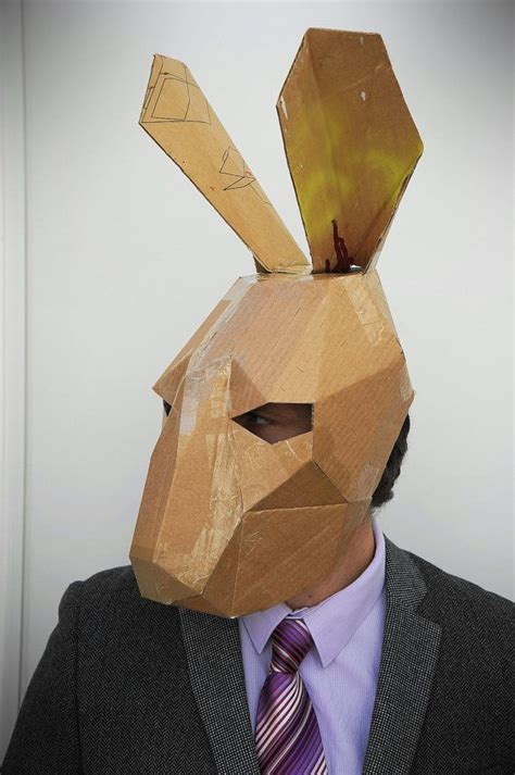 How To Make A 3d Mask Out Of Paper - best 25 cardboard mask ideas on mask