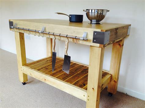 kitchen island table with storage butchers block kitchen island trolley preparation table