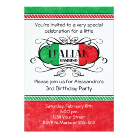 Hochzeitseinladung Italienisch by Italienisch Einladungen Zazzle De