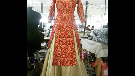 design dress cutting and stitching double slit designer cape dress diy drafting cutting