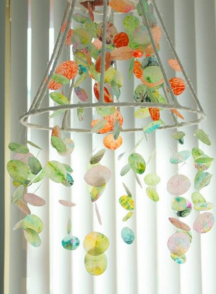 Wax Paper Crafts - make a 1 wax paper and crayon chandelier dollar store