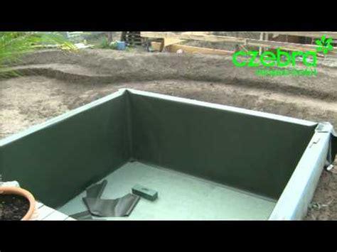 Folie Kleben Youtube by Teichfolie Einschweissen Teichfolie Verlegen Teichbau