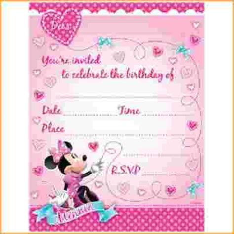 templates for minnie mouse invitations minnie mouse invitations printable minnie mouse party