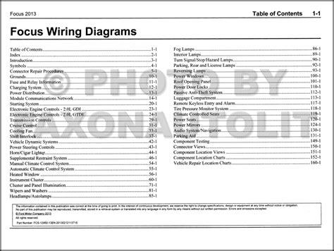 vehicle repair manual 2000 ford focus transmission control 2013 ford focus wiring diagram manual original