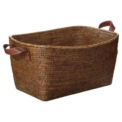 rattan baskets fairfax rattan basket large brown for the home
