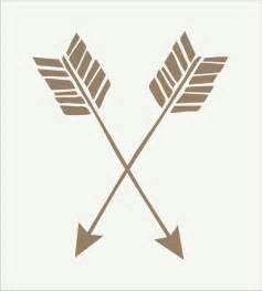 arrow double arrows stencil crossed arrows 5 sizes