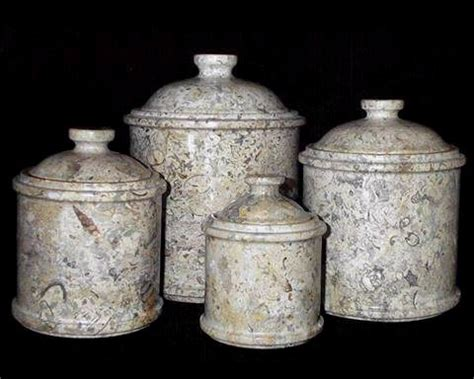 beautiful kitchen canisters large coral marble kitchen canisters set of 4