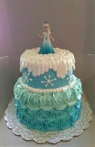 Simple ana and elsa edible print frozen birthday cake