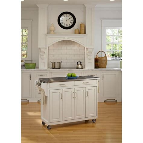 home styles create a cart red kitchen cart with stainless home styles create a cart white kitchen cart with