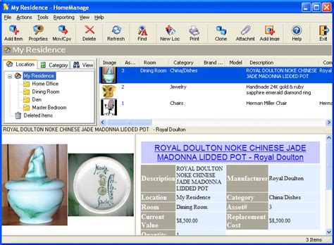 homemanage home inventory software information free