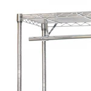 chrome clothes rack 1200mm wide 3 shelves 2 hanging rails