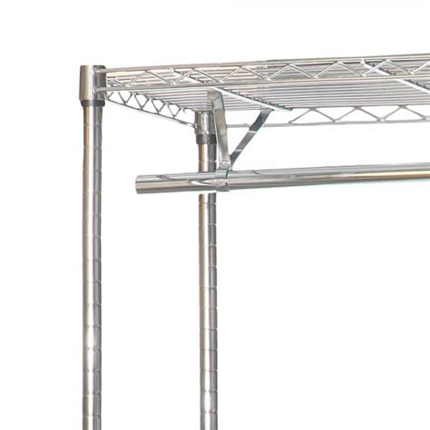 chrome clothes rack 1200mm wide 3 shelves 2 hanging rails