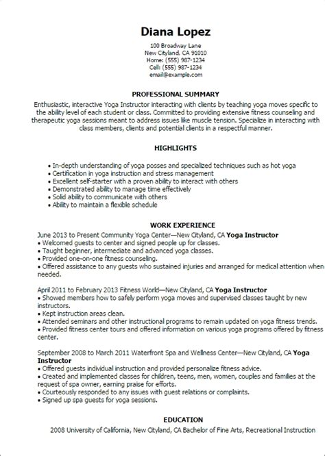sle cv for yoga teacher yoga teacher resume best resume collection