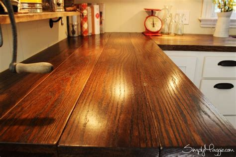 cheap diy wood countertops 15 amazing diy kitchen countertop ideas wide plank
