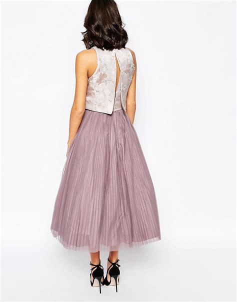 coast coast harven dress with pleated skirt at asos
