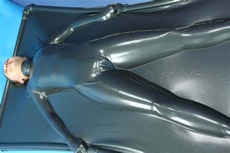 latex vac bed girl in vacbed made from metallic pewter latex latex pinterest latex pewter and