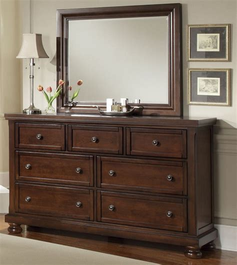 Tripple Dresser by Vaughan Bassett Bedroom Reflections Dresser 470503