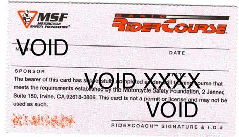 Msf Card Template by Msf Brc Card Team Arizona Motorcycle School