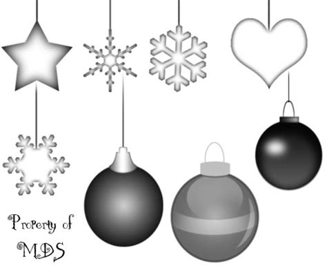 christmas clip art photoshop brushes for holiday themed