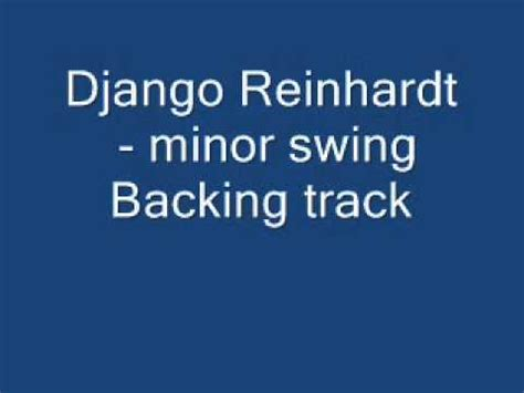 swing backing track minor swing backing track youtube