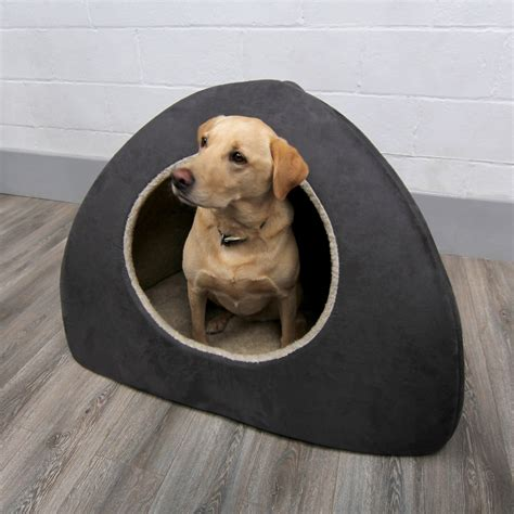 dog igloo bed grey faux suede dog bed igloo jumbo