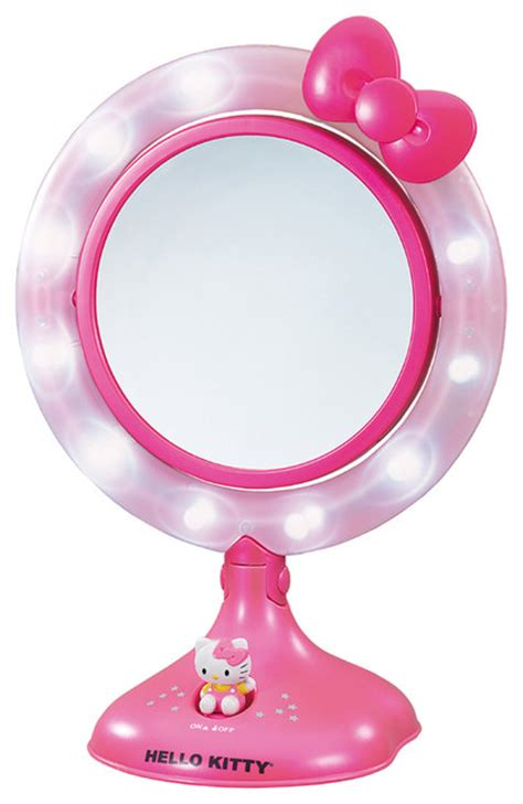 hello lighted makeup mirror contemporary