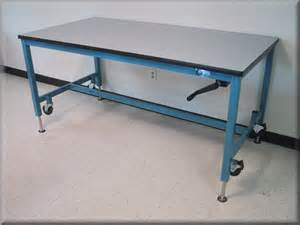 work bench with wheels lift tables at rdm adjustable tables a107p