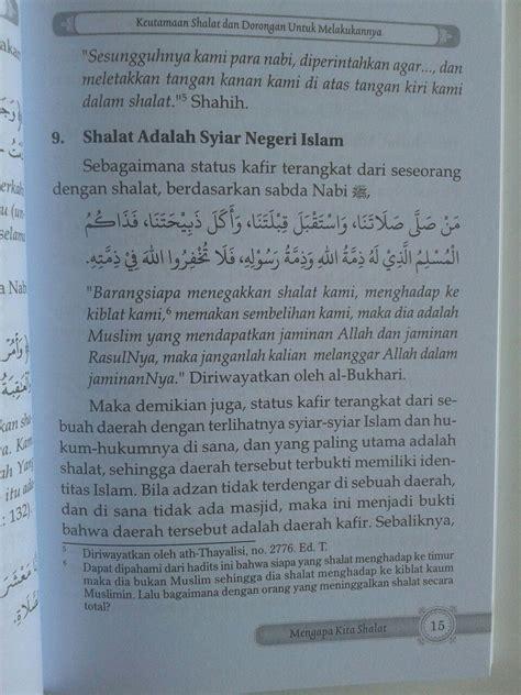 Kesempurnaan Dan Keagungan Islam Syarah Fadhlul Islam buku mengapa kita shalat keutamaan shalat dan dak buruk melalaikannya