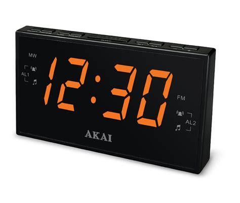 akai am fm pll digital tuning dual alarm clock radio large 1 8 quot led display ebay