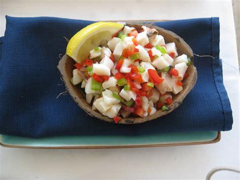 couch salad fatback and foie gras conch salad recipe