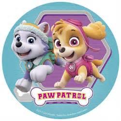 skye paw patrols sugar disc 16cm dekora