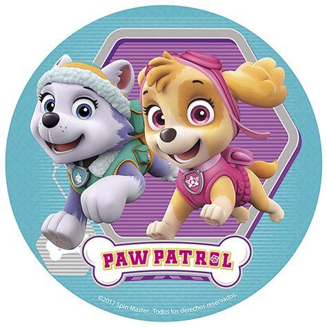 skye paw patrols sugar disc cm dekora