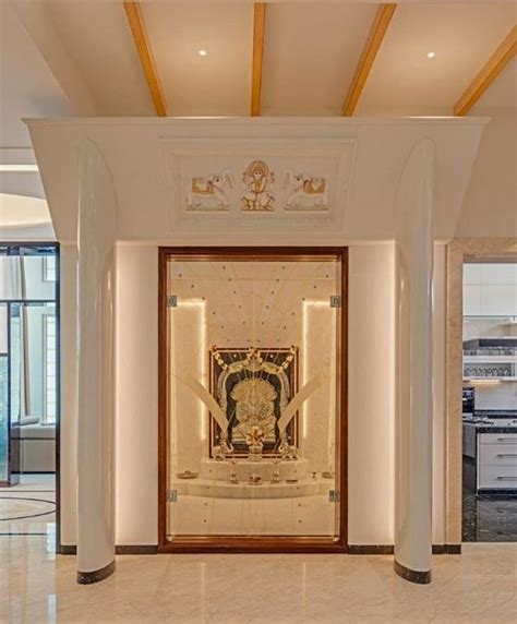 interior design ideas  pooja room wall units