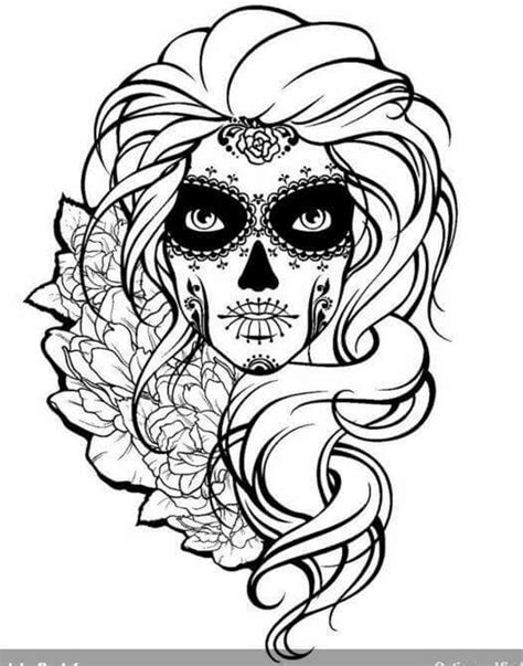 skull coloring pages for adults sugar skull sugar skulls day of the dead coloring