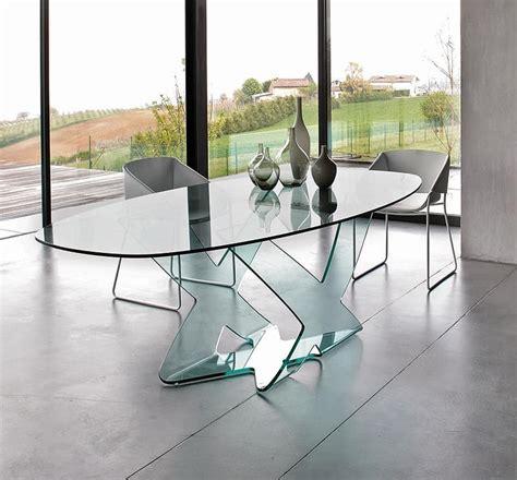tavoli per salotti moderni tavolo da pranzo in vetro curvo per salotti moderni