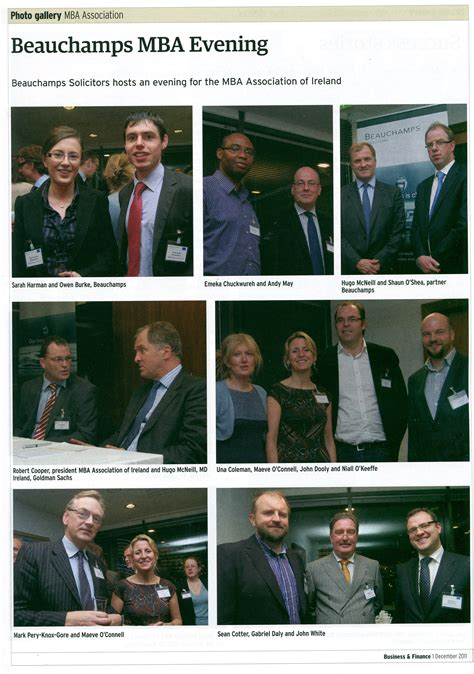 Inside The Mba Events by From Business Finance Magazine P Muldoon