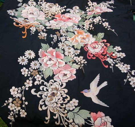 embroidered silk kimono 1 japnese fabric patterns