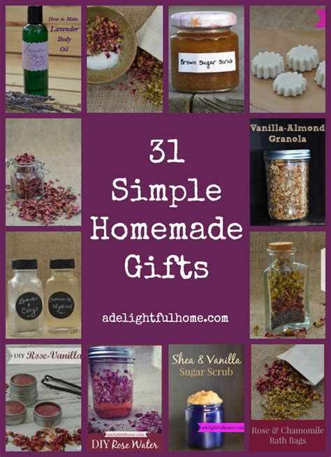 Simple Handmade Gifts - announcing 31 days of simple gifts a delightful