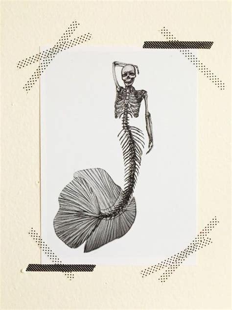 mermaid skeleton tattoo 25 best ideas about mermaid skeleton on is