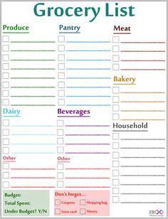 free printable grocery list australia grocery list on pinterest 89 pins