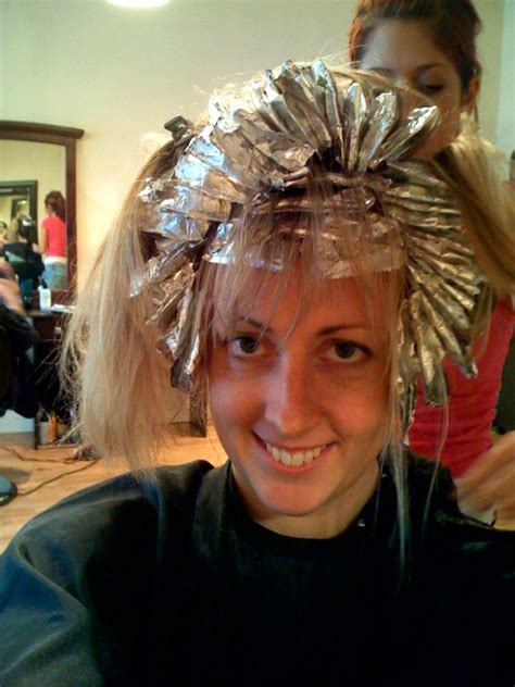 picture of hair clours foil light brown hair with foils