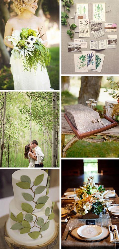 nature themed wedding decorations nature inspired wedding ideas