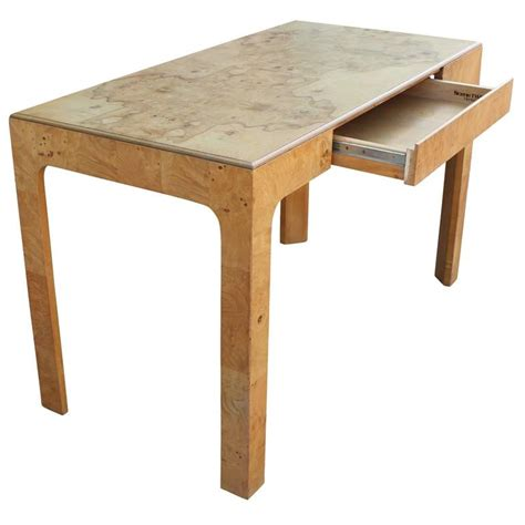 henredon desk henredon quot two quot olive burl parsons style desk at 1stdibs