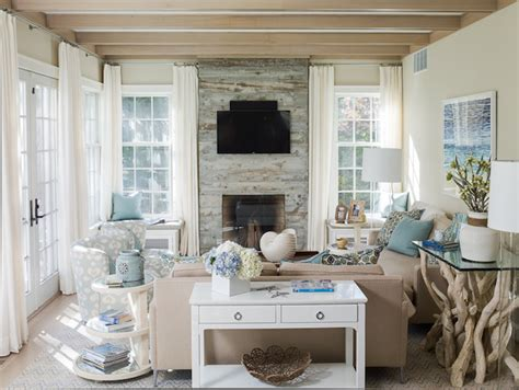 Reclaimed Wood Fireplace Cottage Living Room Liz